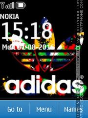 Adidas Color es el tema de pantalla