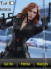 Avengers Black Widow tema screenshot