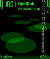 Quartz Green es el tema de pantalla