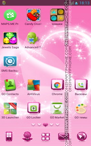 Pink Design 01 theme screenshot