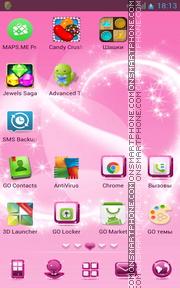 Pink Design 01 es el tema de pantalla