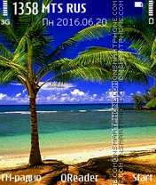 Tropics theme screenshot