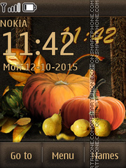 Fruits of autumn es el tema de pantalla