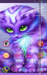 Colorful Kitty tema screenshot