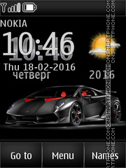 Supercar Lamborghini tema screenshot