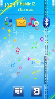 Summer Stars 01 theme screenshot