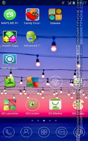Violet Light bulbs tema screenshot