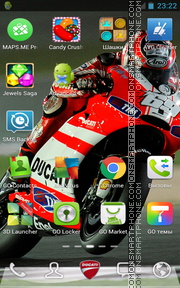 Ducati 1095 tema screenshot