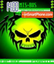 Green Skull 02 theme screenshot