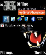 Black Tiger 01 es el tema de pantalla