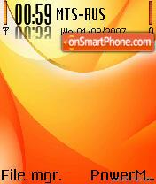 Orange 06 theme screenshot