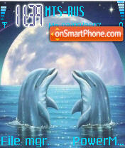 Dolphins Dream theme screenshot