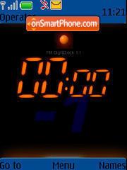 Digi Flash Clock es el tema de pantalla