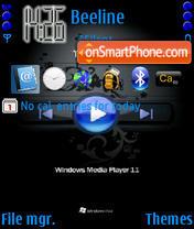 Windows Media Player es el tema de pantalla