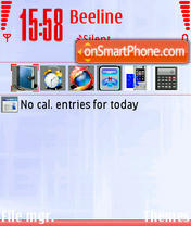 White Red theme screenshot