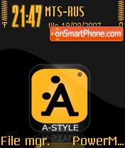 Astyle es el tema de pantalla