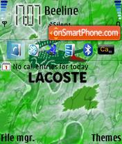 Lacoste 01 es el tema de pantalla