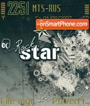 Rock Star es el tema de pantalla
