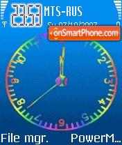 Animated Clock 01 es el tema de pantalla
