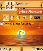Vista Sunset theme screenshot