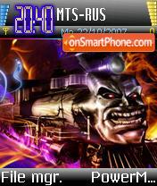Space Impact theme screenshot