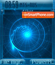 Circular Blue es el tema de pantalla