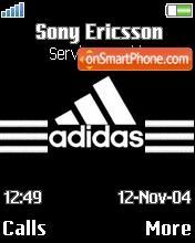 Adidas Performance theme screenshot