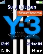 Adidas Y3 01 theme screenshot