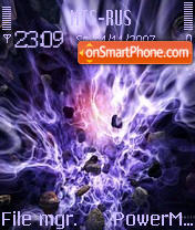 Abstraction Violet theme screenshot