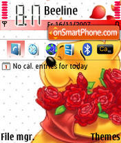 Lovely Pooh theme screenshot