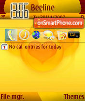 Love Yellow es el tema de pantalla