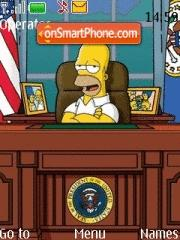 Homer Simpson 02 theme screenshot