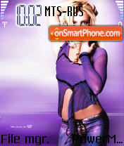 Britney Spears theme screenshot