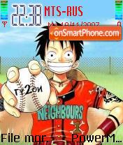 One Piece Luffy 01 theme screenshot