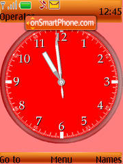 Water Drop Clock theme screenshot