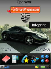 Porsche Cayman S theme screenshot