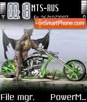 Dragon Bike theme screenshot