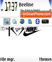 I Love Nike es el tema de pantalla