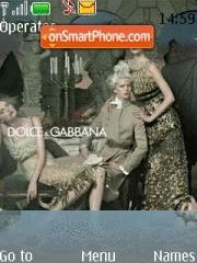 Dolce And Gabbana theme screenshot
