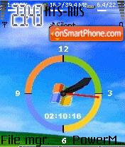 Animated Clock 03 es el tema de pantalla