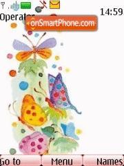Butterfly Colours theme screenshot