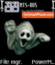 Animated 3d Ghost theme screenshot