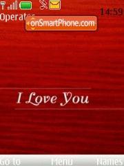 I Love U theme screenshot