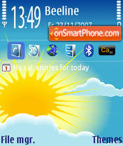 Sun 01 theme screenshot