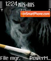 Smoking Is Death es el tema de pantalla