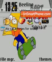 Skate Bart 320x240 es el tema de pantalla