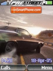Need for Speed Pro Street Car es el tema de pantalla