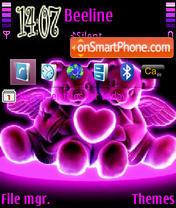 Pink Teddy Love es el tema de pantalla