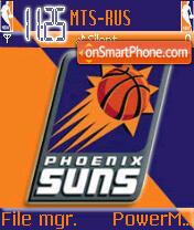 Phoenix Suns NBA theme screenshot