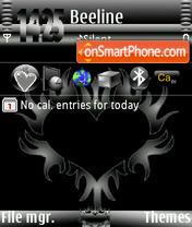 Black Heart Ver1 es el tema de pantalla
